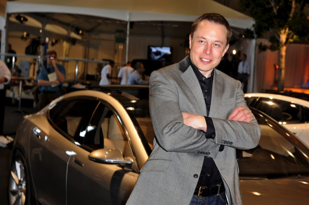 Tesla Motors Chairman and CEO Elon Musk introduces the new Tesla Model S all-electric sedan