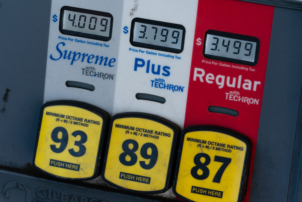 gas pumps with octane and pricing