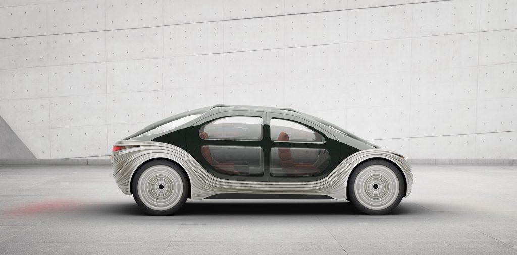 A digital image of an IM Motors Airo concept electric car.