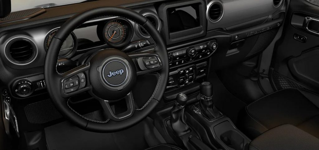 The interior of the Jeep Wrangler Freedom