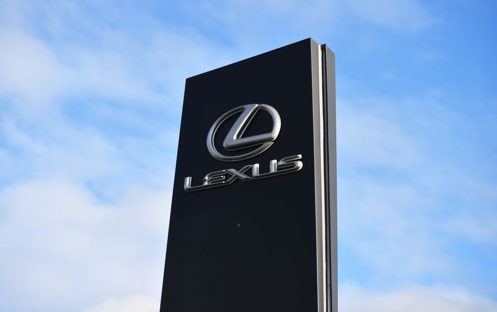 A Lexus sign, as luxury vehicles, Lexus are known for having a higher rate of depreciation