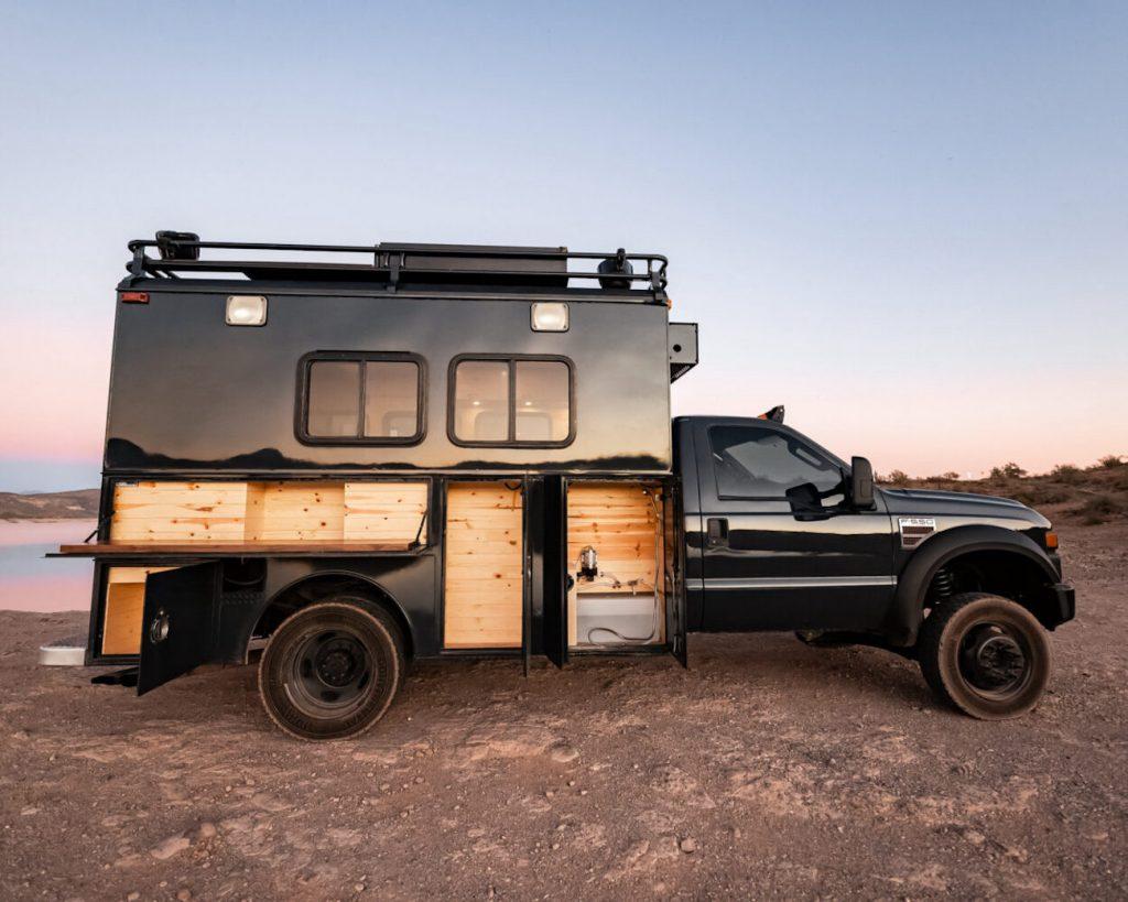 Hotshot Adventure Truck profile shot in the desert