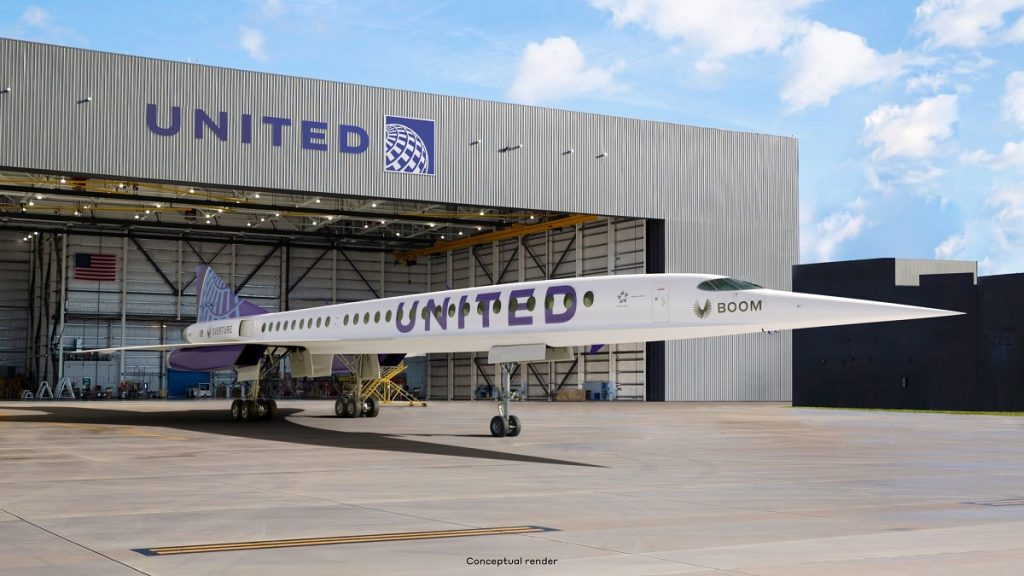 A United Airlines plane sitting on the tarmac.