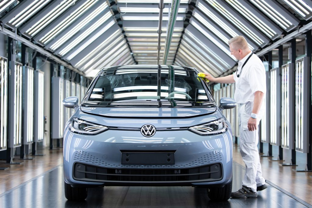 A Volkswagen ID electric vehicle
