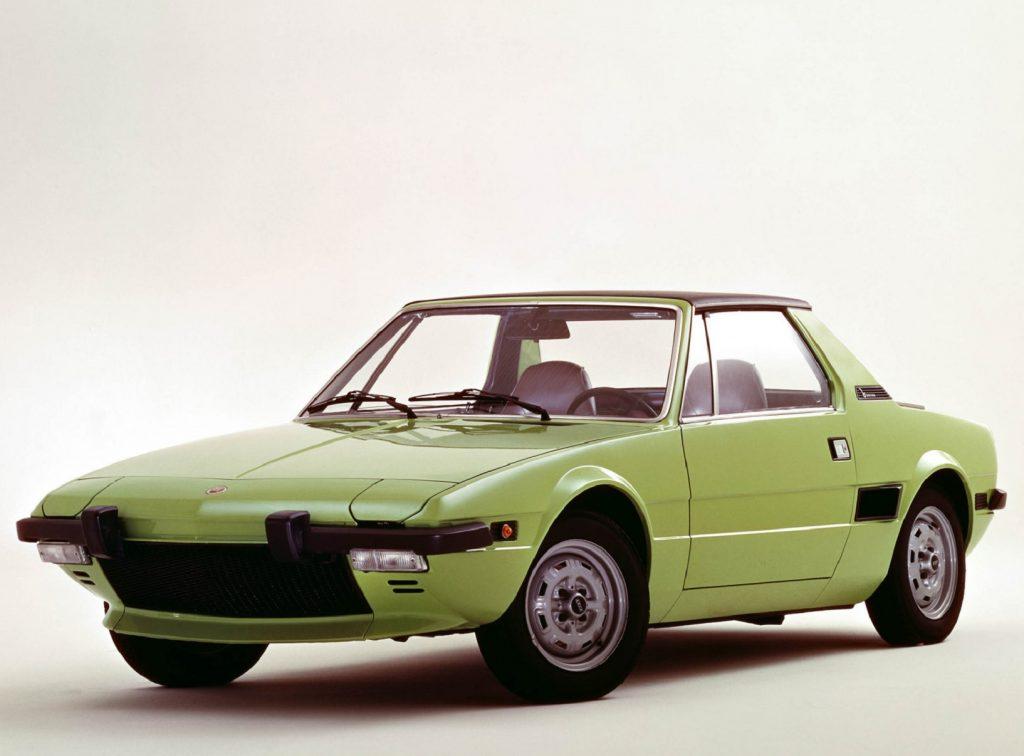 A green 1972 Fiat X1/9