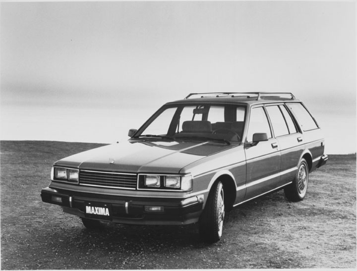 A 1982 Nissan Maxima parked