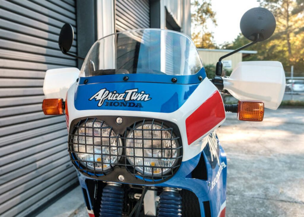 front end of a vintage Honda Africa Twin