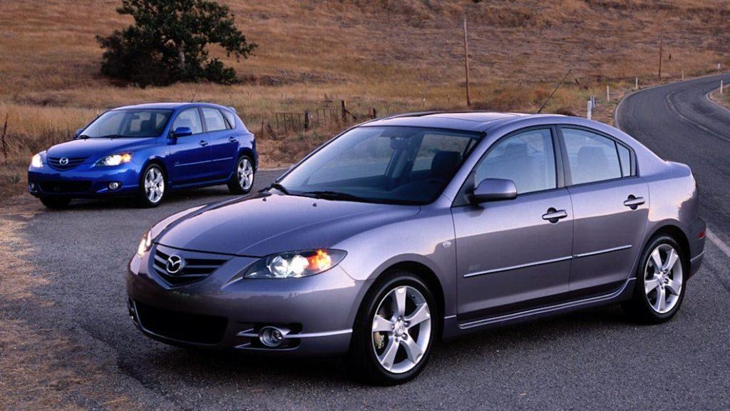 2007 Mazda3s sedan and hatchback parked together
