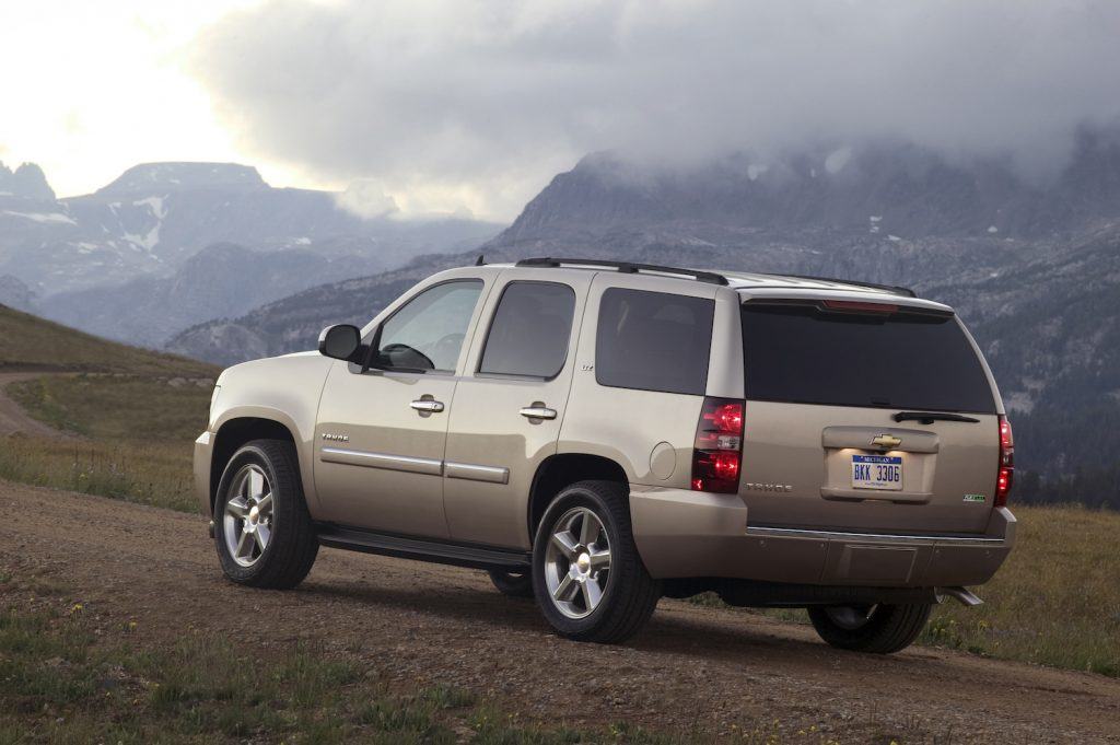 A 2011 Chevrolet Tahoe driving, the 2011 Chevrolet Tahoe is an affordable used SUV
