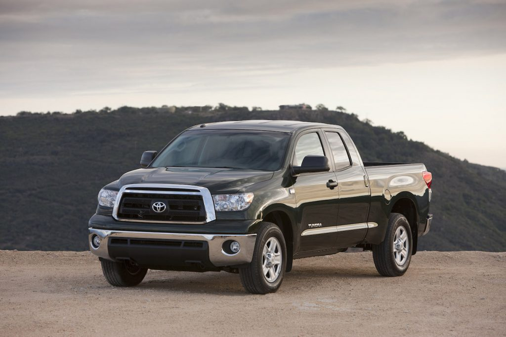A black 2013 Toyota Tundra parked, the 2013 Tundra is the best used full-size truck under $20,000
