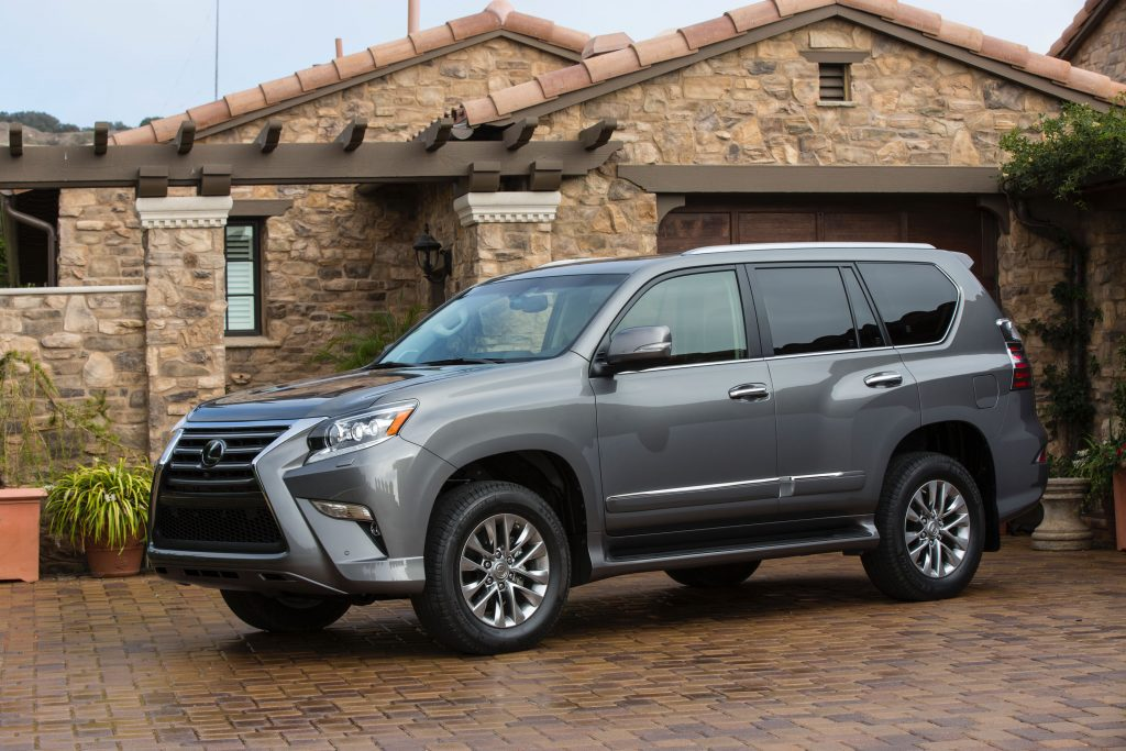The 2017 Lexus GX 460 SUV parked in front of a home
