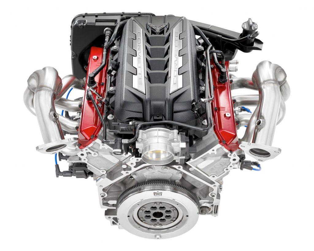The 2020 C8 Chevrolet Corvette Stingray 6.2-liter V8