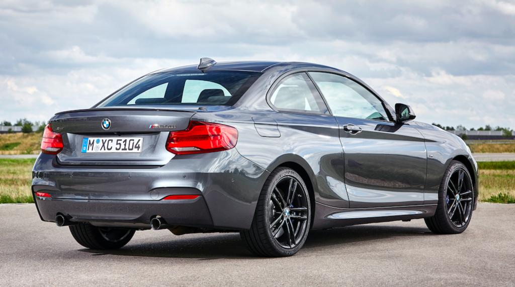 2021 BMW 2 Series rear for comparison