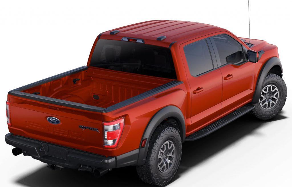 The 2021 Ford F-150 Raptor in a new shade of Code Orange