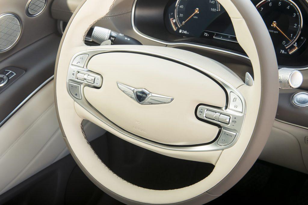 2021 Genesis GV80 steering wheel