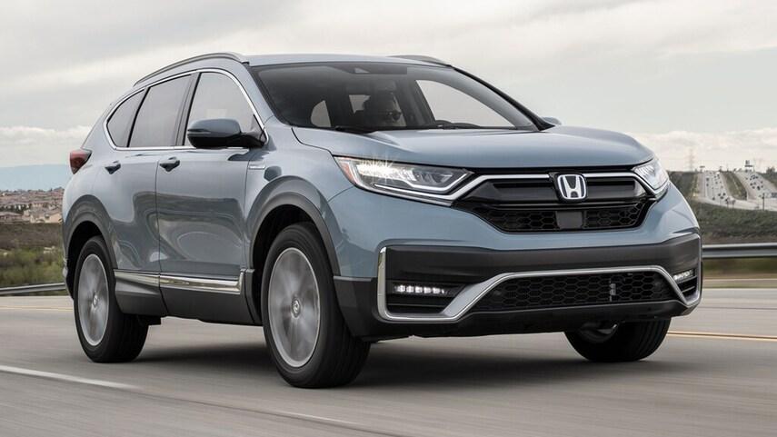 The 2021 Honda CR-V Hybrid on display