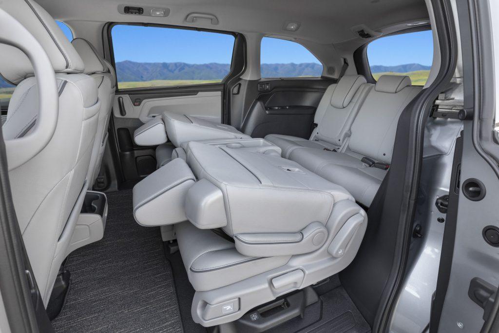 Honda Odyssey interior back seats