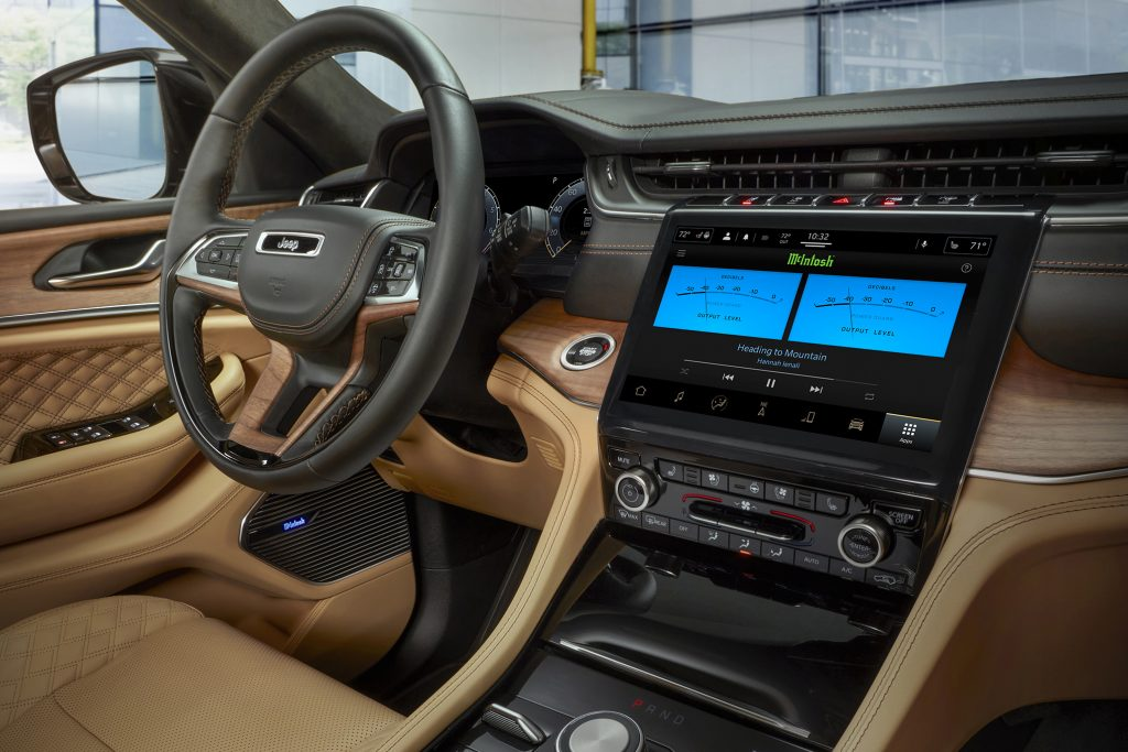 The McIntosh MX950 audio system in a 2021 Jeep Grand Cherokee L Summit Reserve