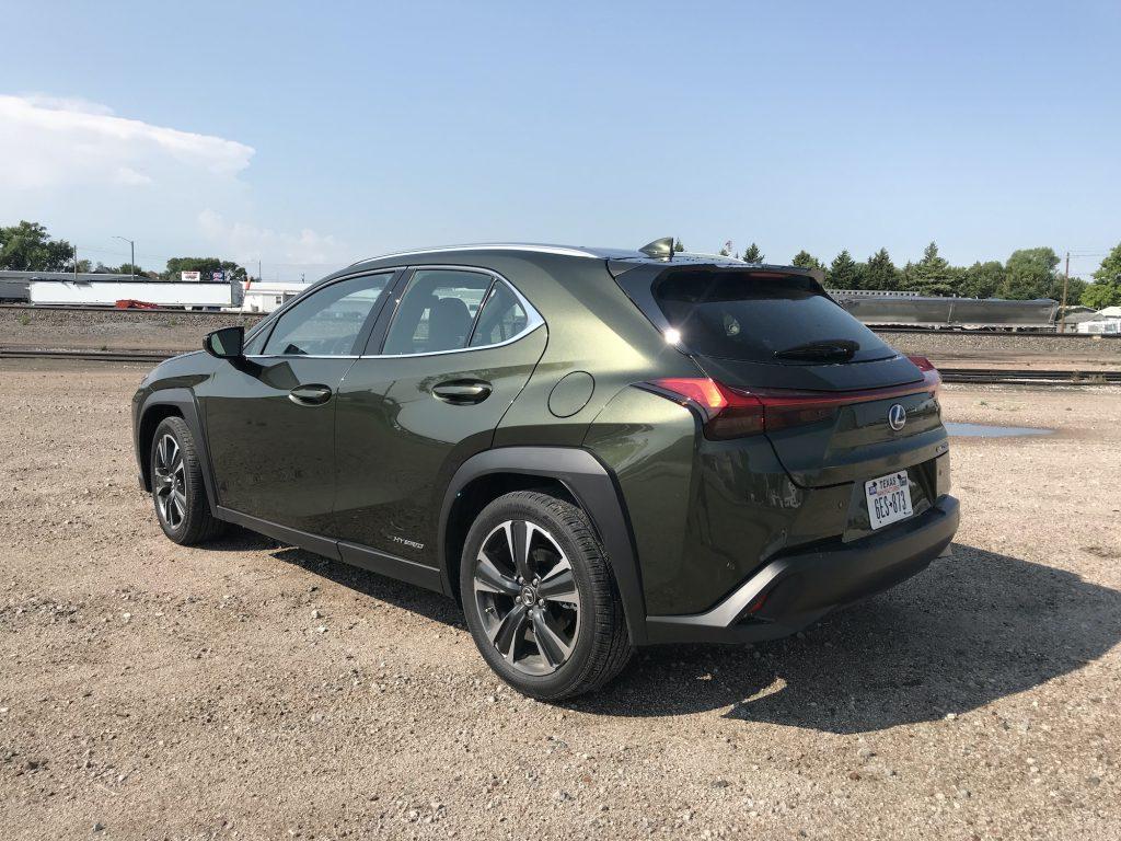 2021 Lexus UX 250h rear shot