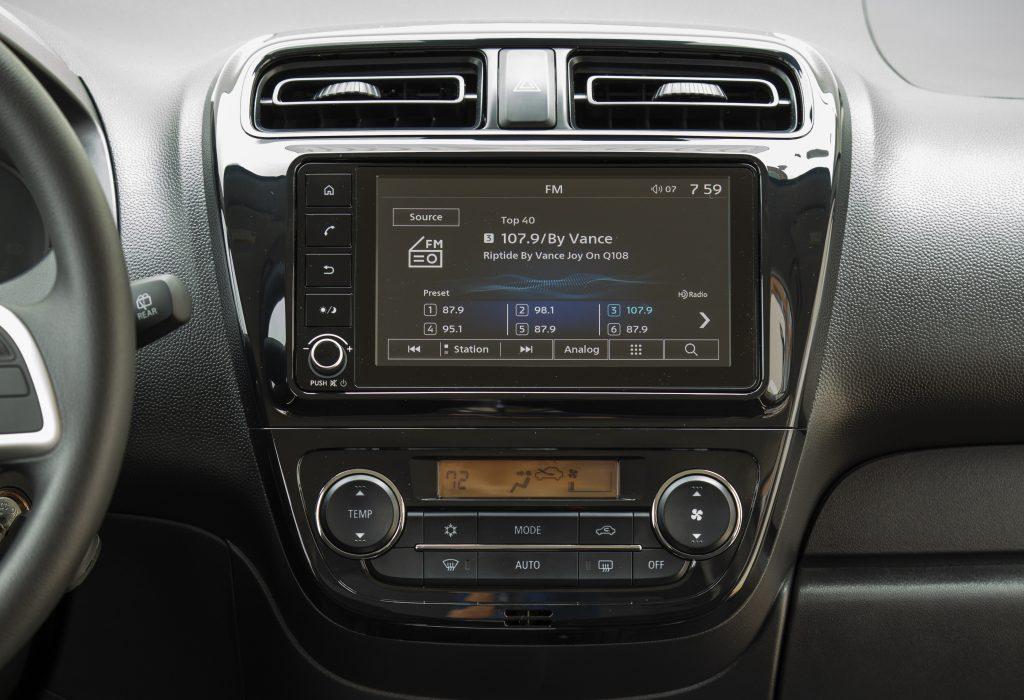 2021 Mitsubishi Mirage Interior with Apple CarPlay and Android Auto