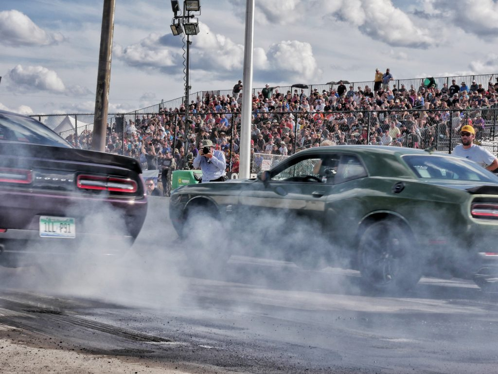 Roadkill Nights Powered by Dodge draws nearly 50,000 fans to street-legal drag racing in Pontiac, Michigan