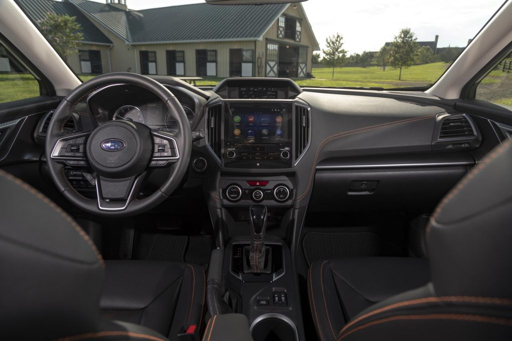 the interior of a Subaru Crosstrek