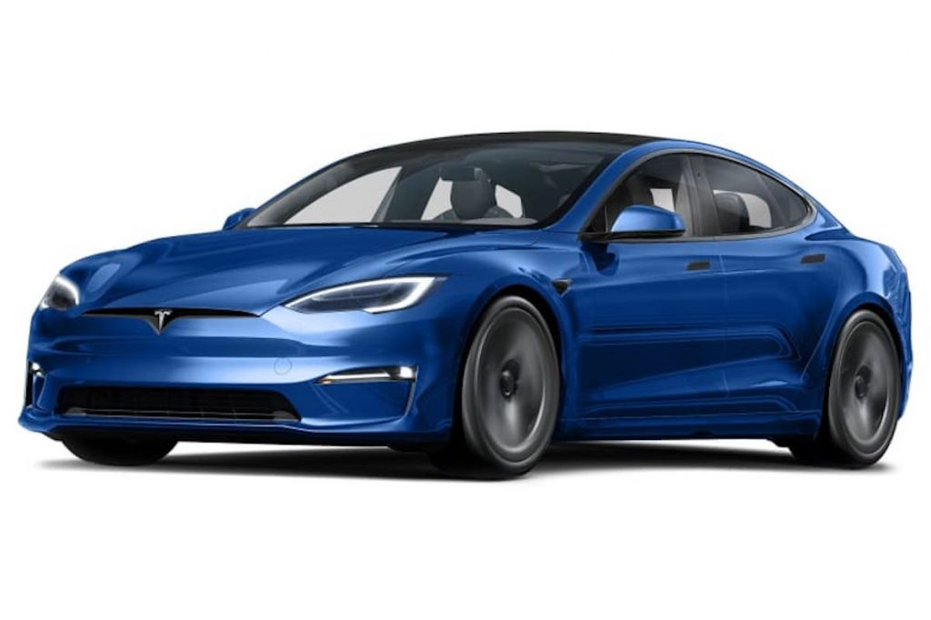 2021 Tesla Model S in blue is similar to the one Prince Charles just sold