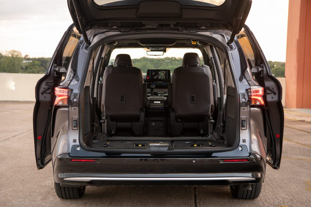 2021 Toyota Sienna Trunk With Rear Seats Folded Down And Captain's Chair Taken Out