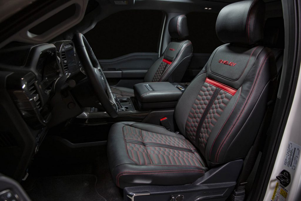 2021 Ford F-150 Shelby interior