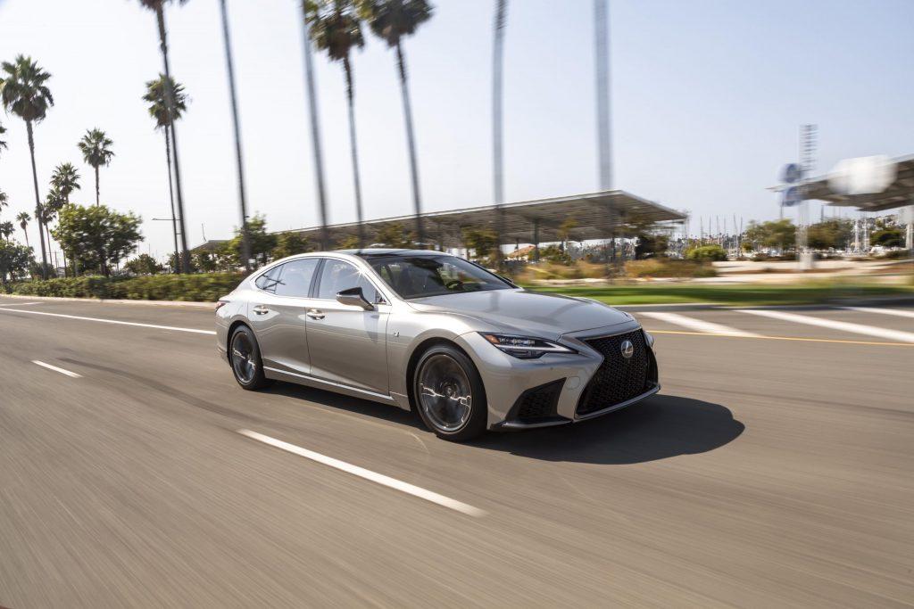 2021 Lexus LS 500 front driving