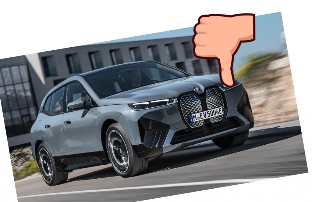 2022 BMW iX thumbs down