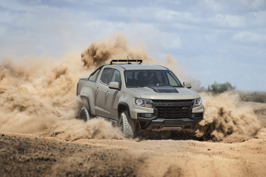2022 Chevy Colorado ZR2 in the desert named one of the best off-road trucks
