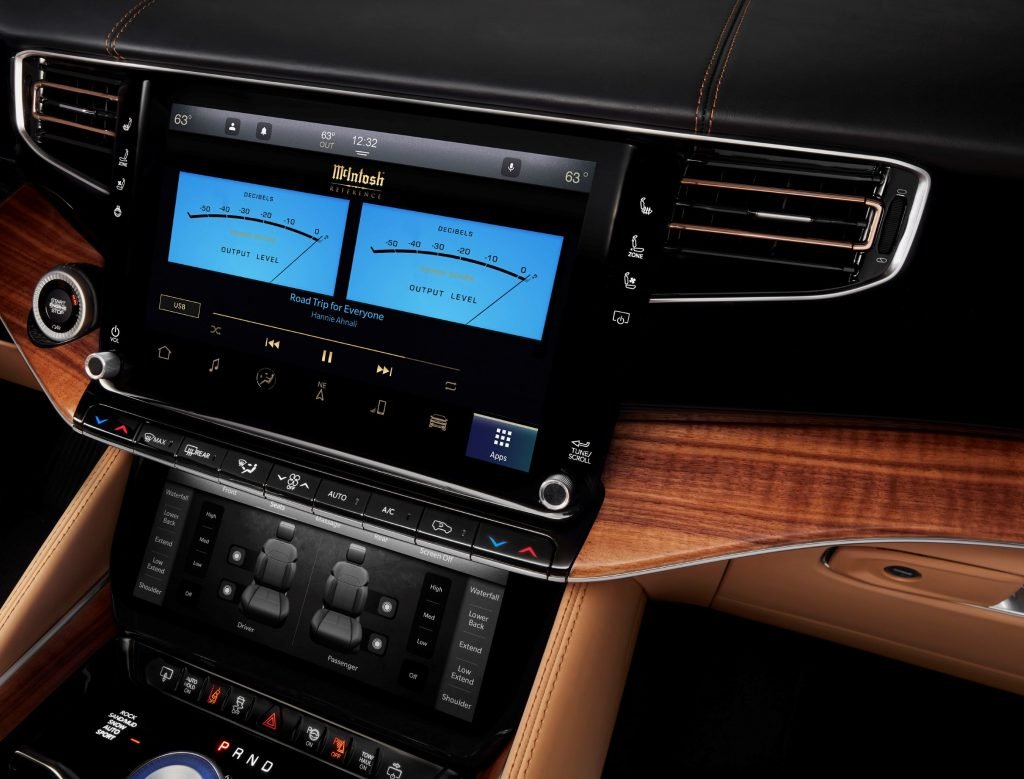 The McIntosh MX1375 Reference audio System in a 2022 Grand Wagoneer