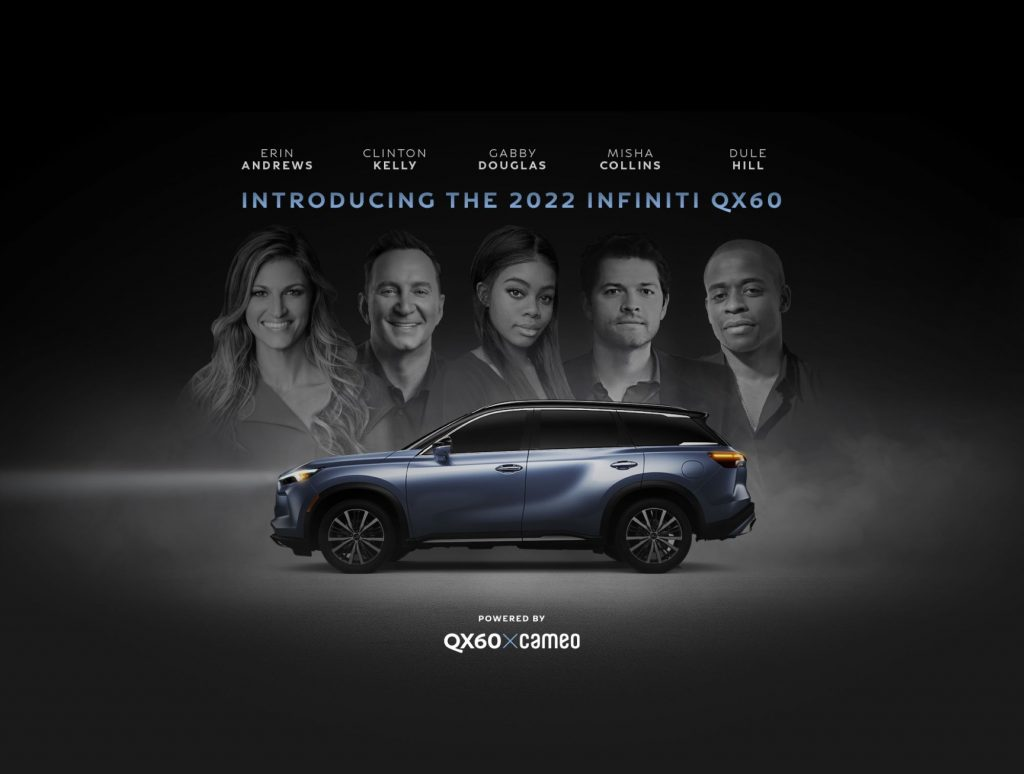 The 2022 Infiniti QX60 model presented by Cameo celebrity guests