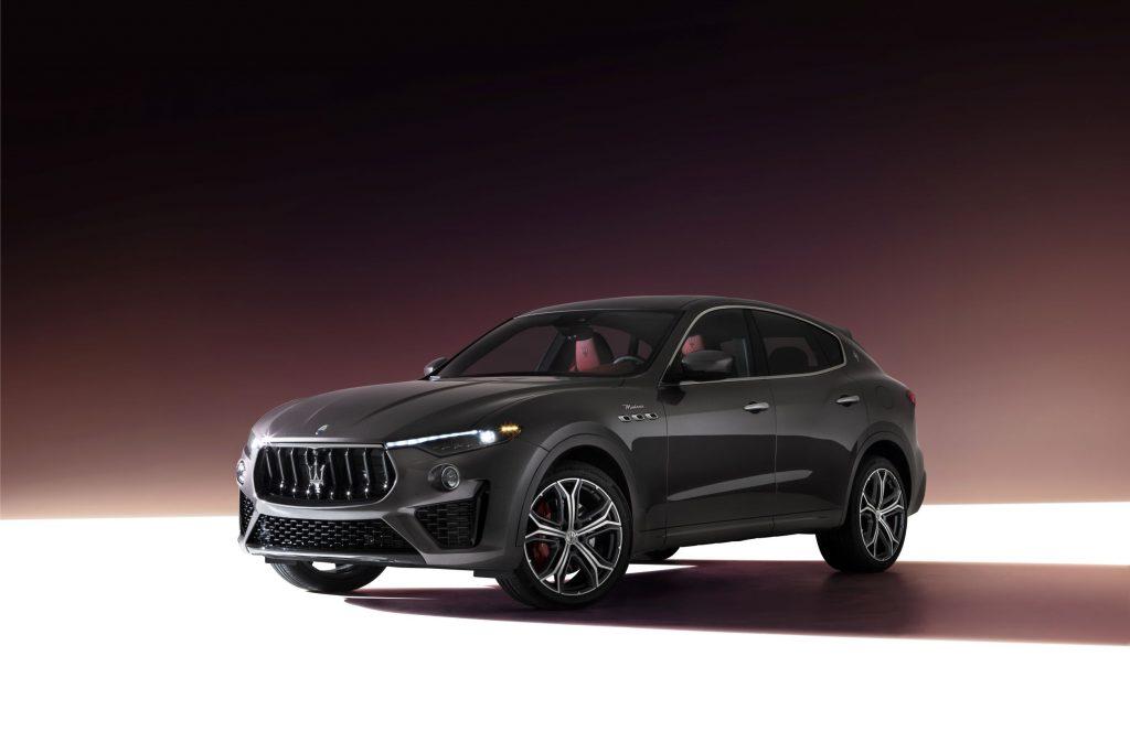 A gray 2022 Maserati Levante Modena SUV