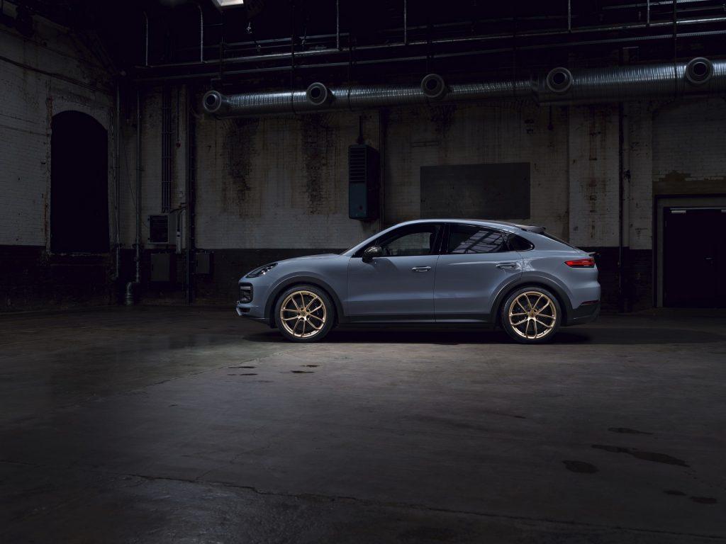 Porsche Cayenne parked inside a warehouse