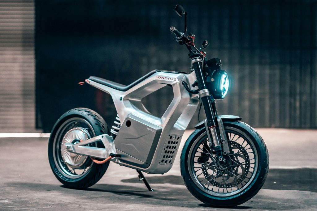 The electric Sondors Metacycle looks like something out of WestWorld