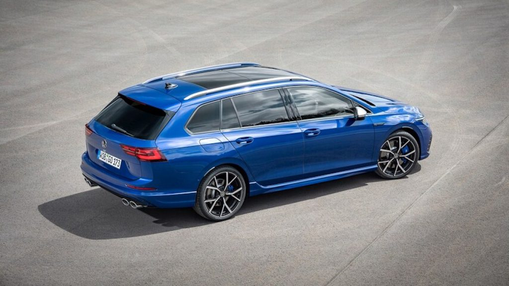 The 2022 VW Golf R Estate in blue is one of the coolest wagons ever