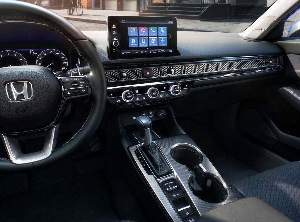 The 2022 Honda Civic interior that may influence the 2022 Honda CR-V