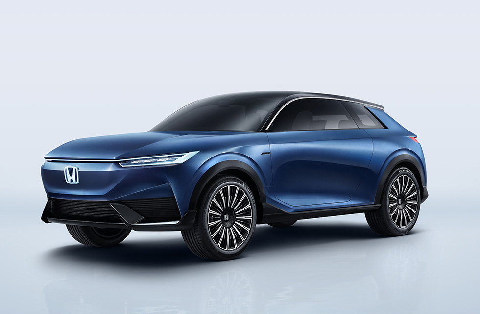 Rendering of Honda's electric SUV concept, showcased at the Beijing International Automotive Exhibit