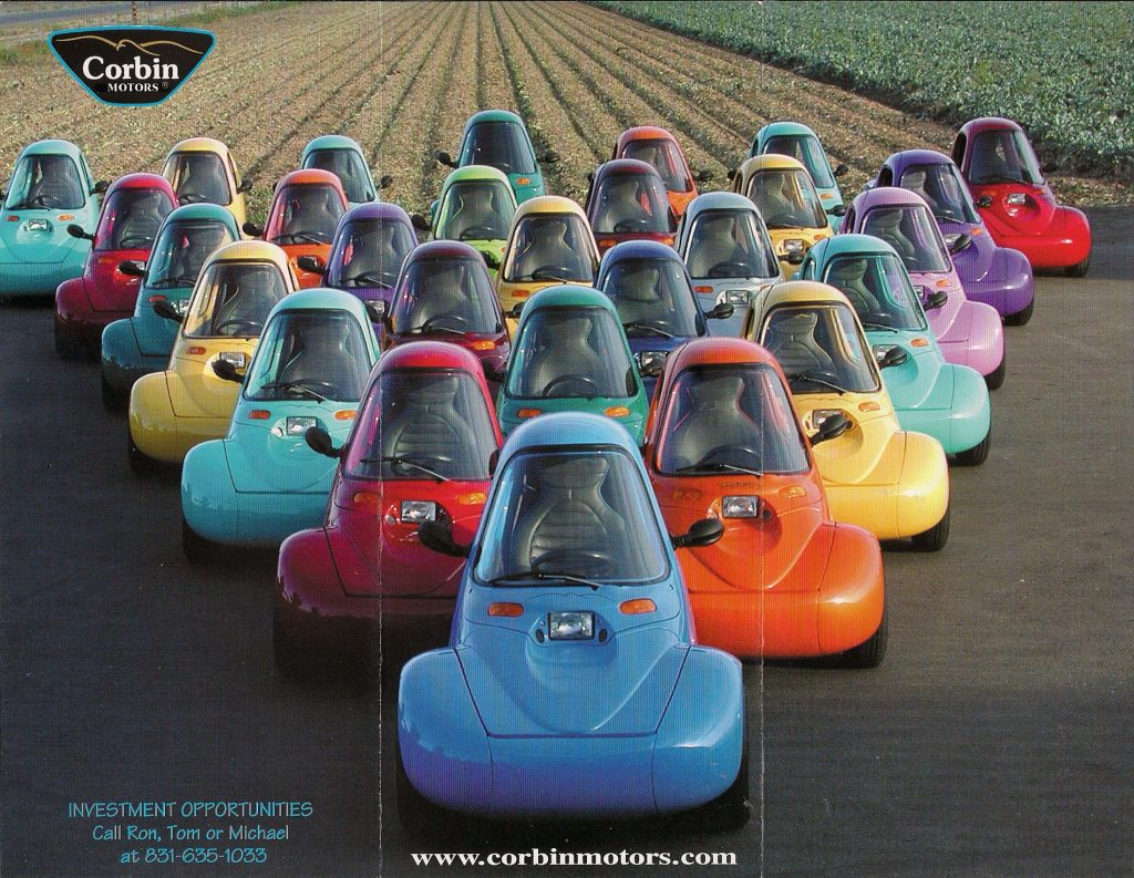 A large flock of colorful Corbin Sparrows in an ad from 2002