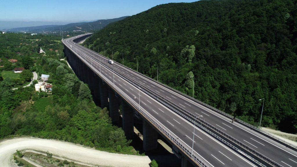 An abandoned highway during a coronavirus (COVID-19) lockdown in Duzce, Turkey