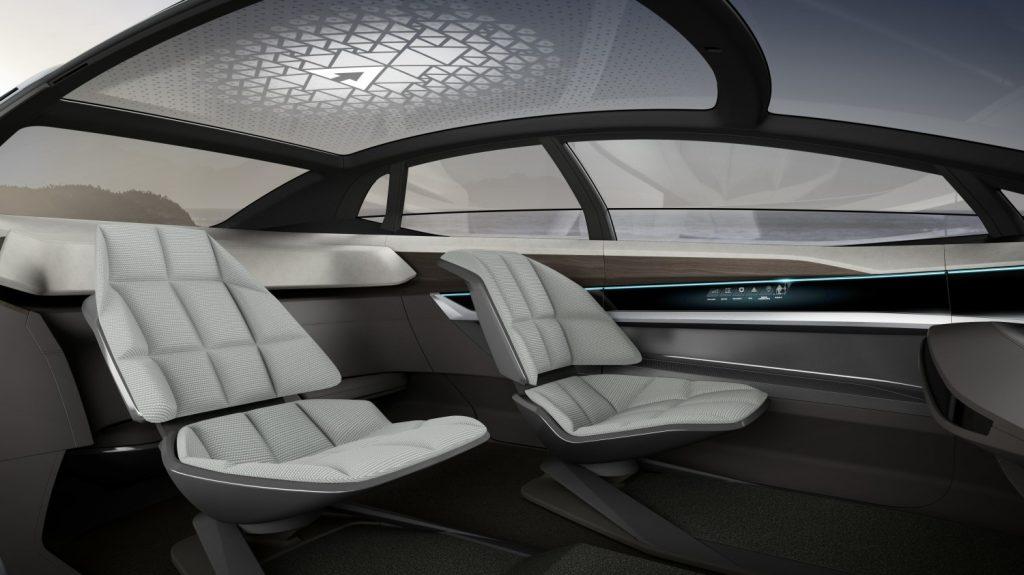 The interior of Audi's AI:CON self-driving concept car