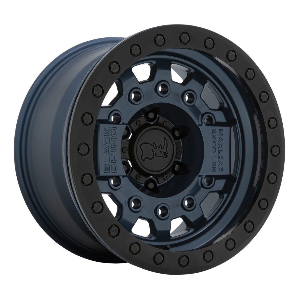Black Rhino's navy blue beadlock wheel