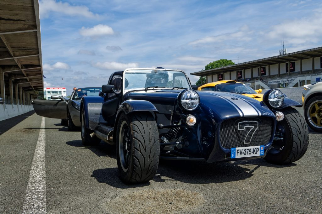 Lotus Seven Kit Car at 'God Save the Car' racing event