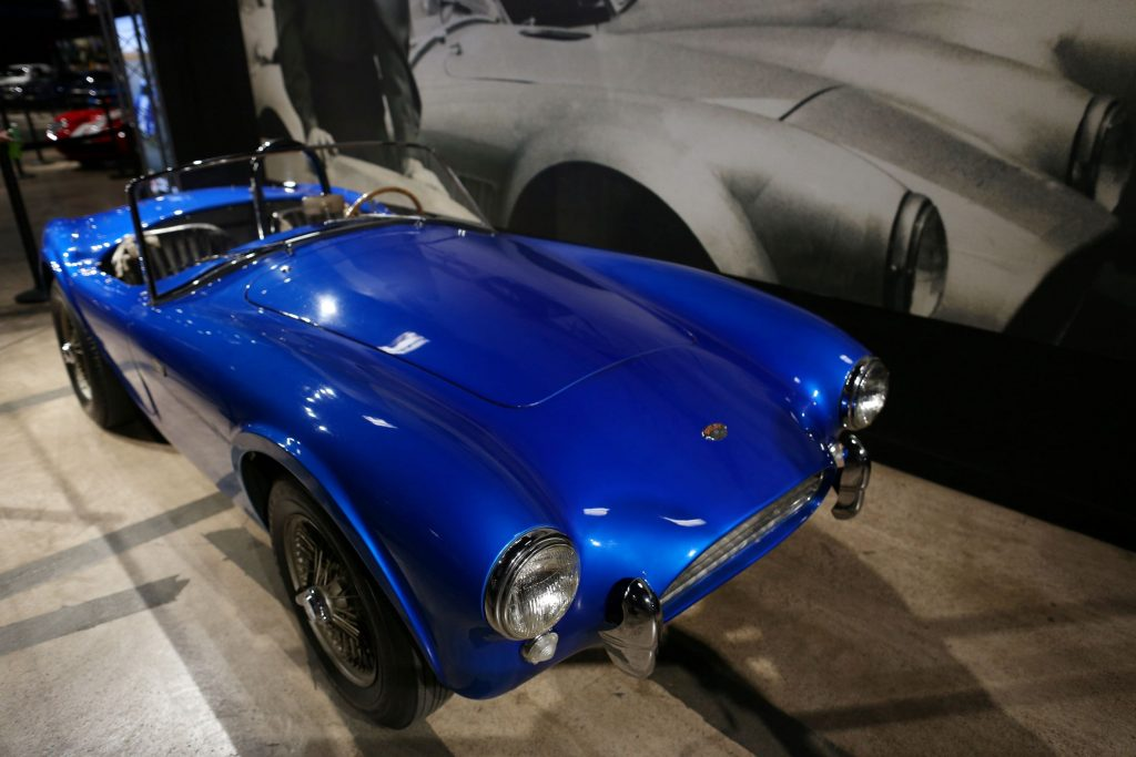 CSX2000, the first Shelby Cobra, in Shelby American's headquarters