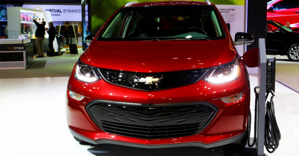 2020 Chevrolet All-Electric Bolt EV is on display at the 112th Annual Chicago Auto Show.