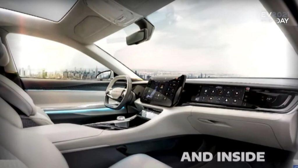 Mystery Chrysler EV interior