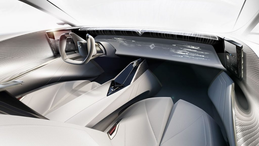 Sustainable staw interior of the DS Aero Sport Lounge Concept