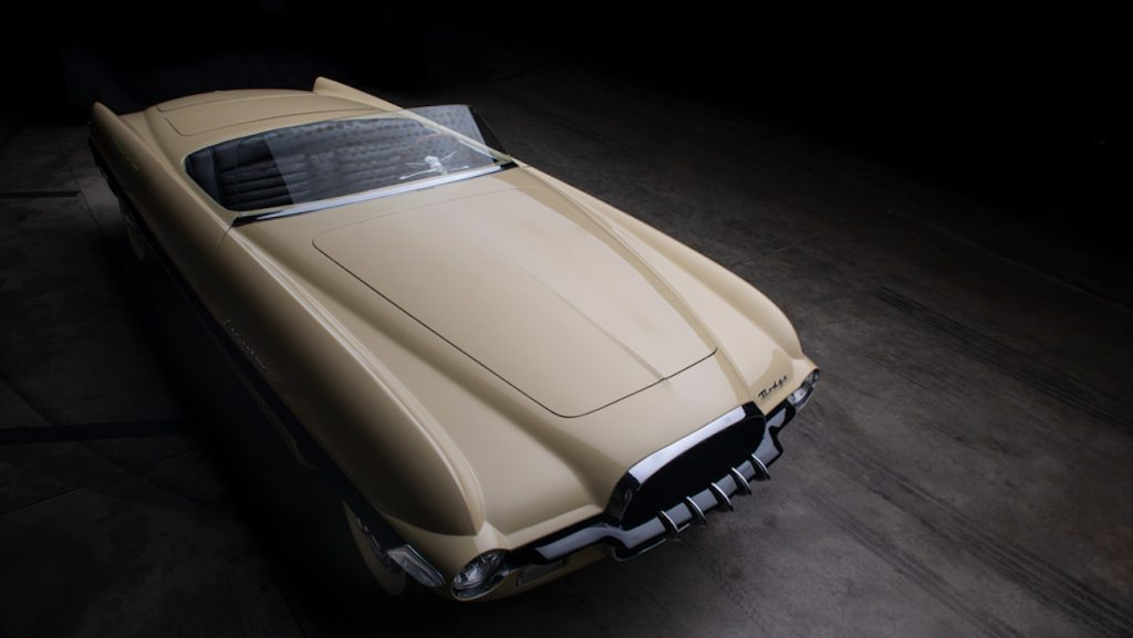 One-of-a-kind 1954 Dodge Firearrow II concept car from above